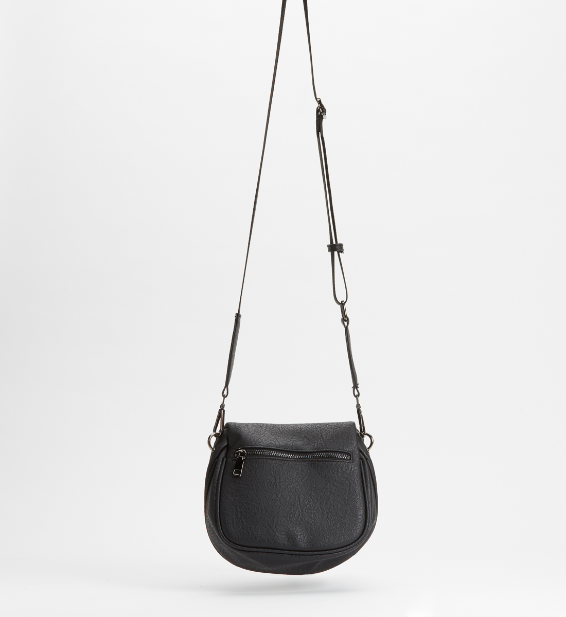 Zip Saddle Bag,Black Back