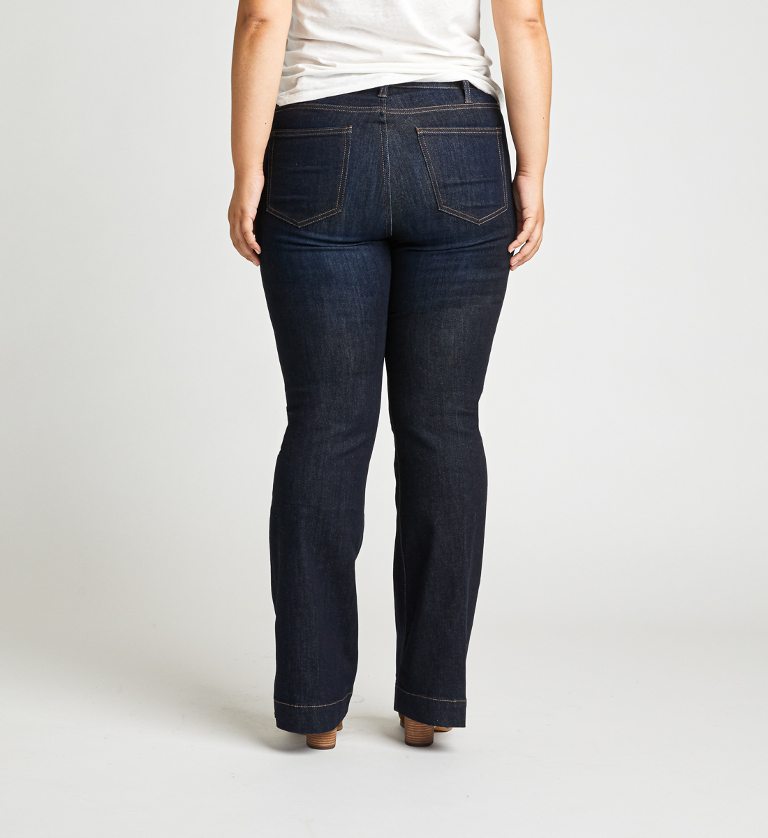 High Note High Rise Trouser Plus Size Jeans Back