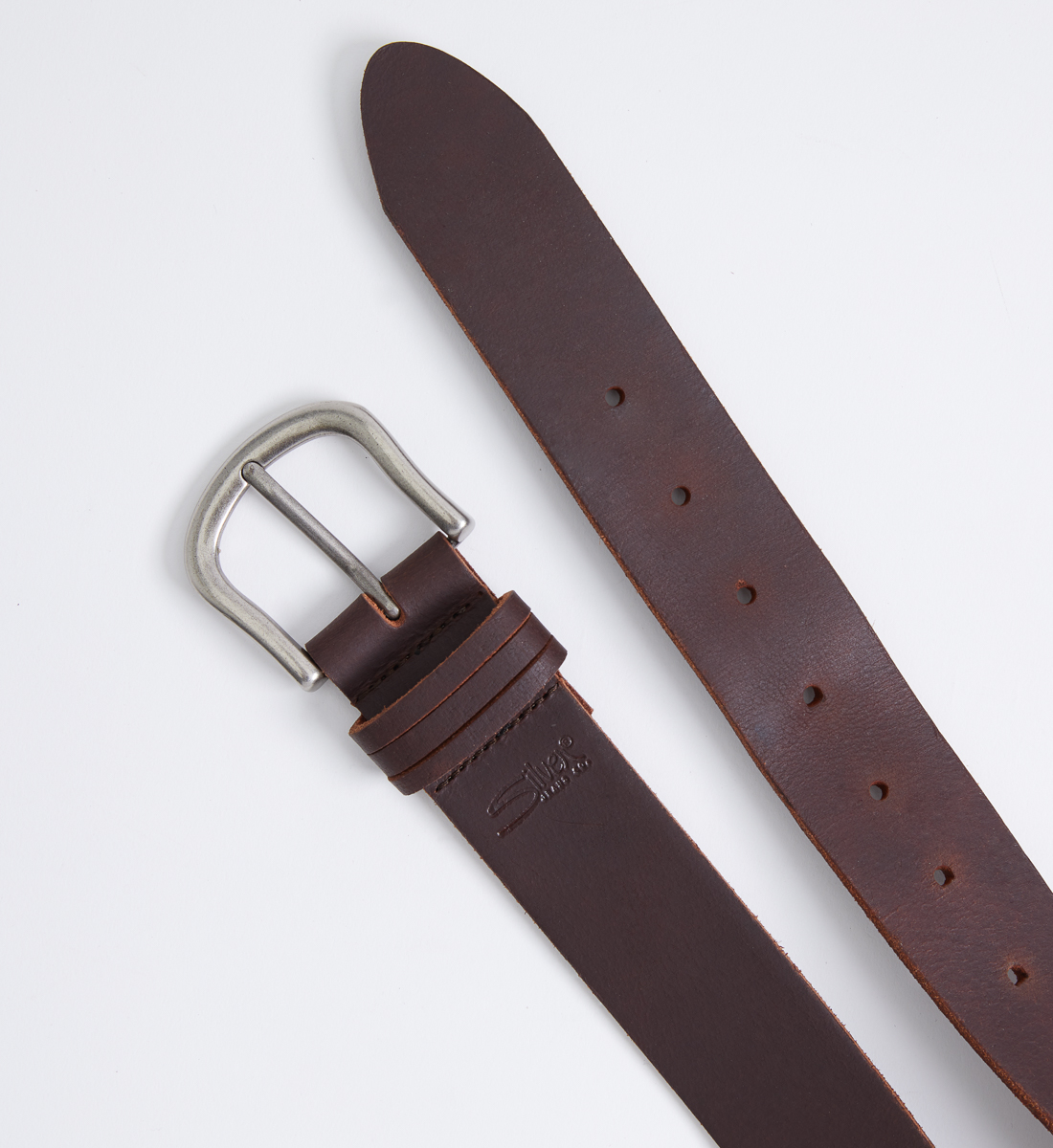 Classic Leather Womens Belt,Dark Brown Alt Image 1