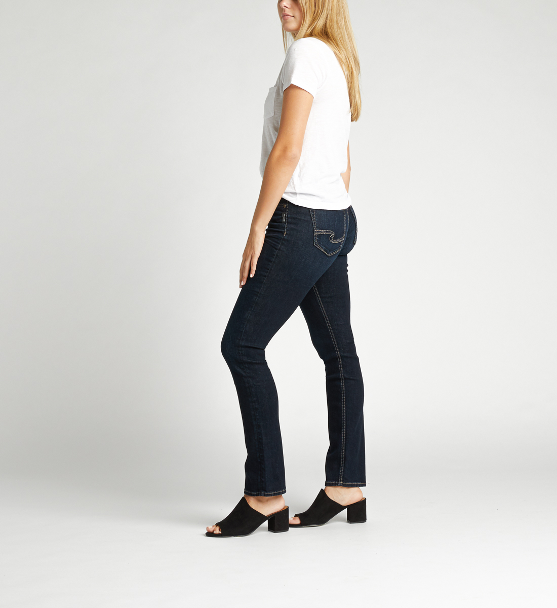 Avery High Rise Straight Leg Jeans Side