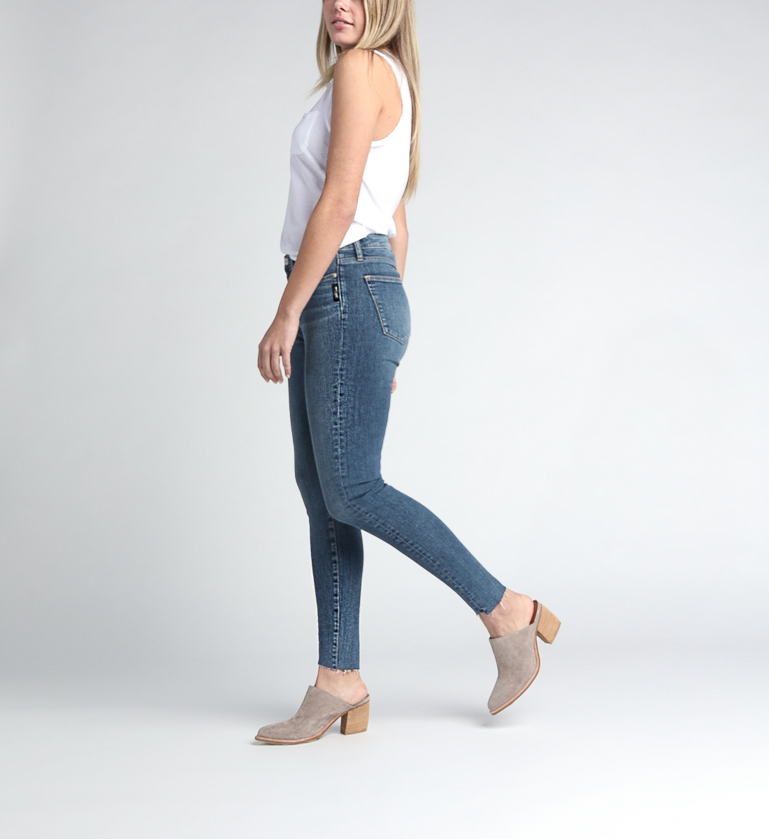 High Note High Rise Skinny Leg Jeans Side