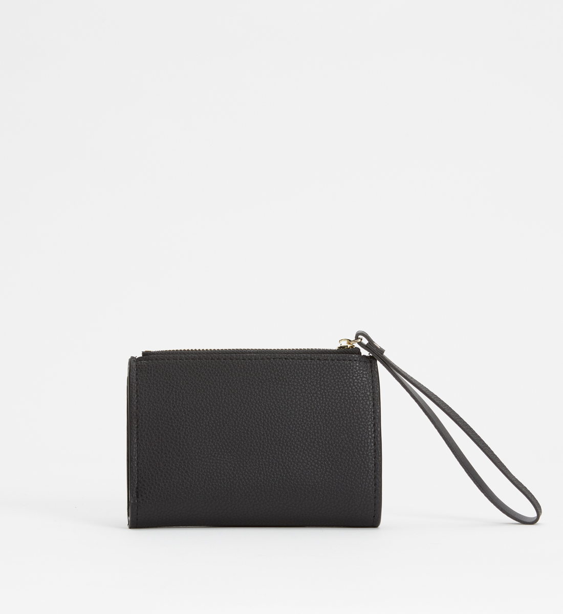 Small Flap Wristlet Wallet,Black Back
