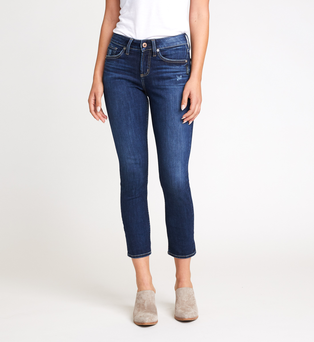 Avery High Rise Slim Leg Jeans Front