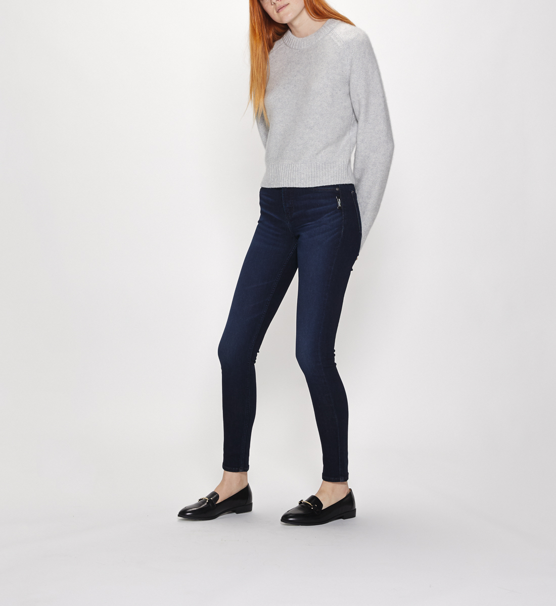 Mazy High Rise Skinny Leg Jeans Final Sale Alt Image 5