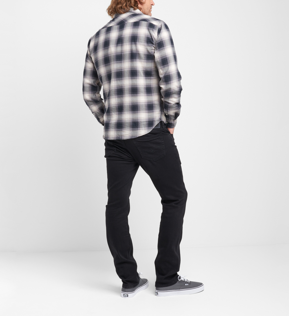 Bennet Plaid Button-Down Shirt Back