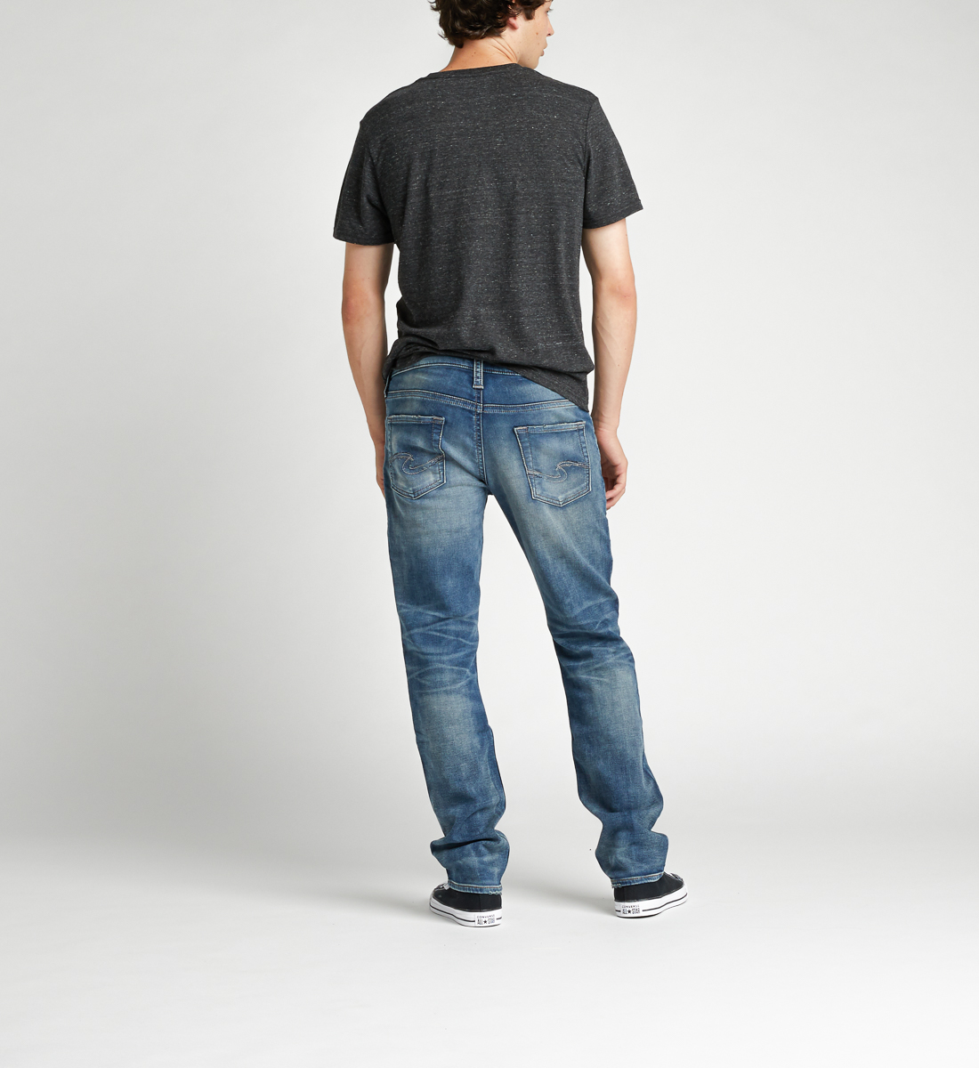 Allan Classic Fit Straight Leg Jeans Back