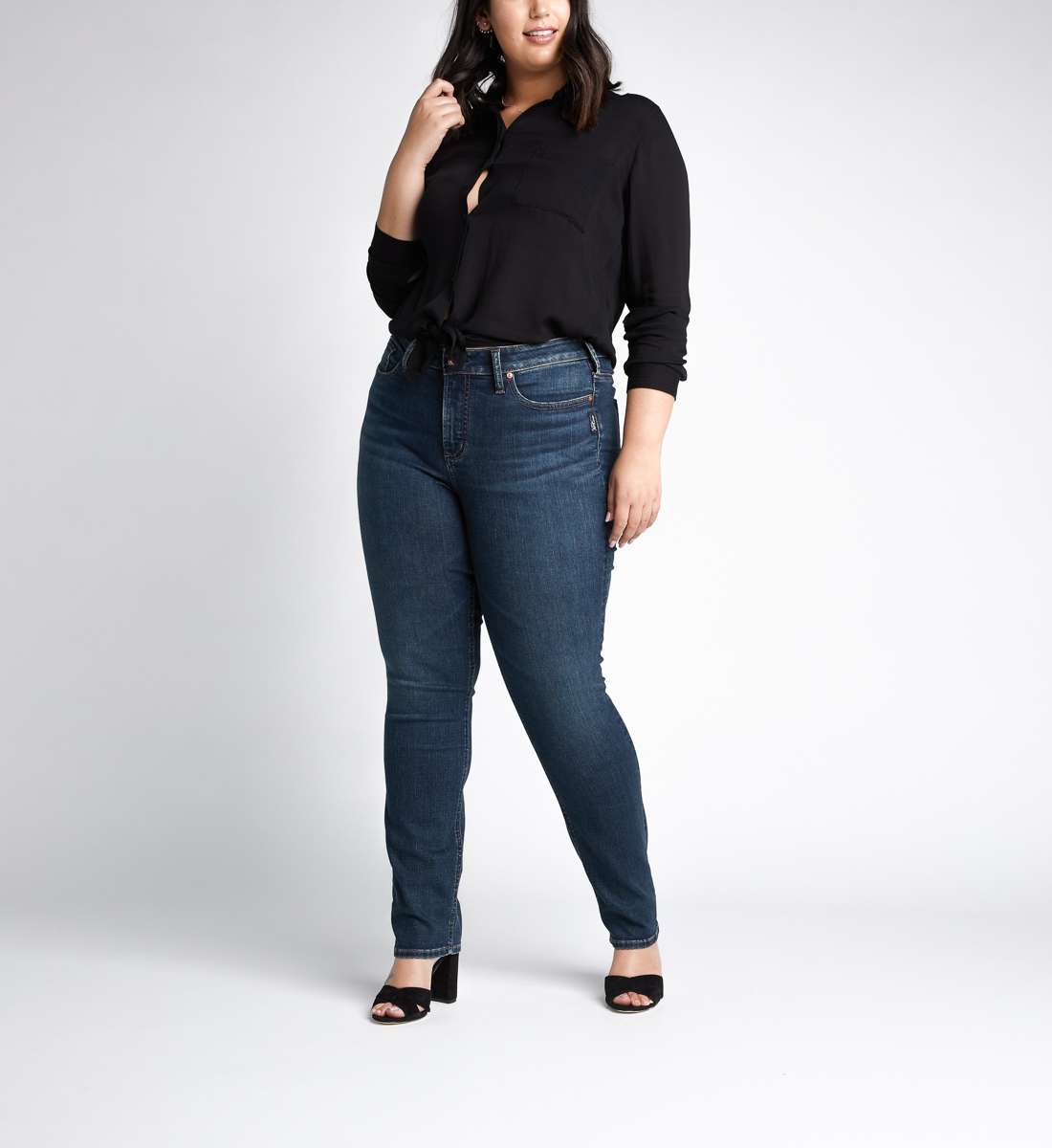 Avery High Rise Straight Leg Jeans Plus Size Alt Image 1