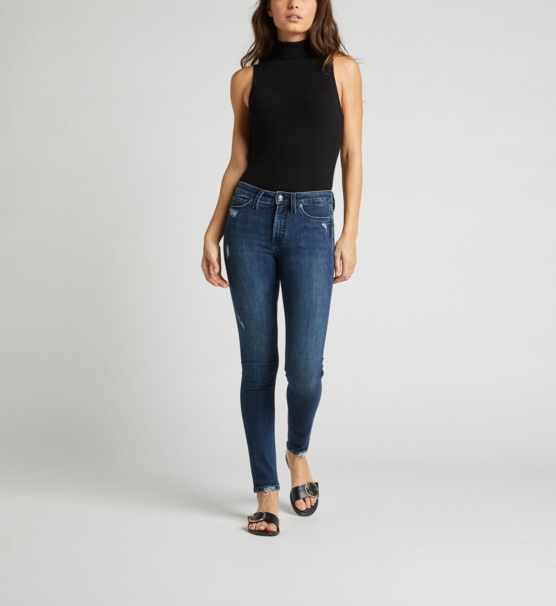 Most Wanted Mid Rise Skinny Leg Jeans Alt Image 1