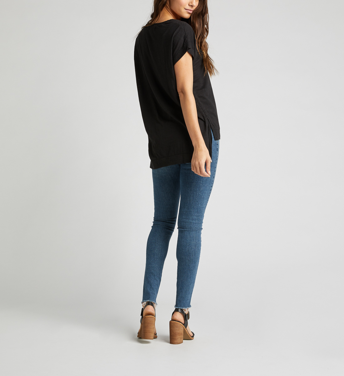 Agnes Side Tie Top,Black Side