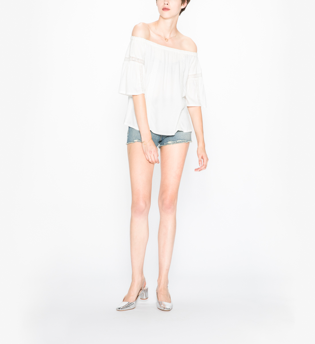 155621b429d540 Scheana - Off-shoulder Peasant Top - Silver Jeans US