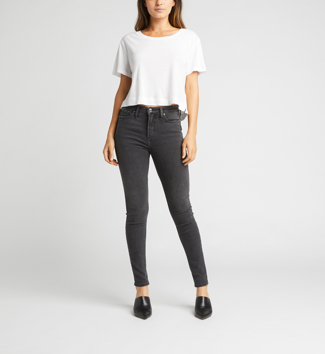 High Note High Rise Skinny Jeans Alt Image 1