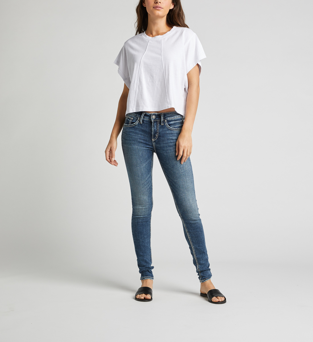 Avery High Rise Skinny Leg Jeans Front