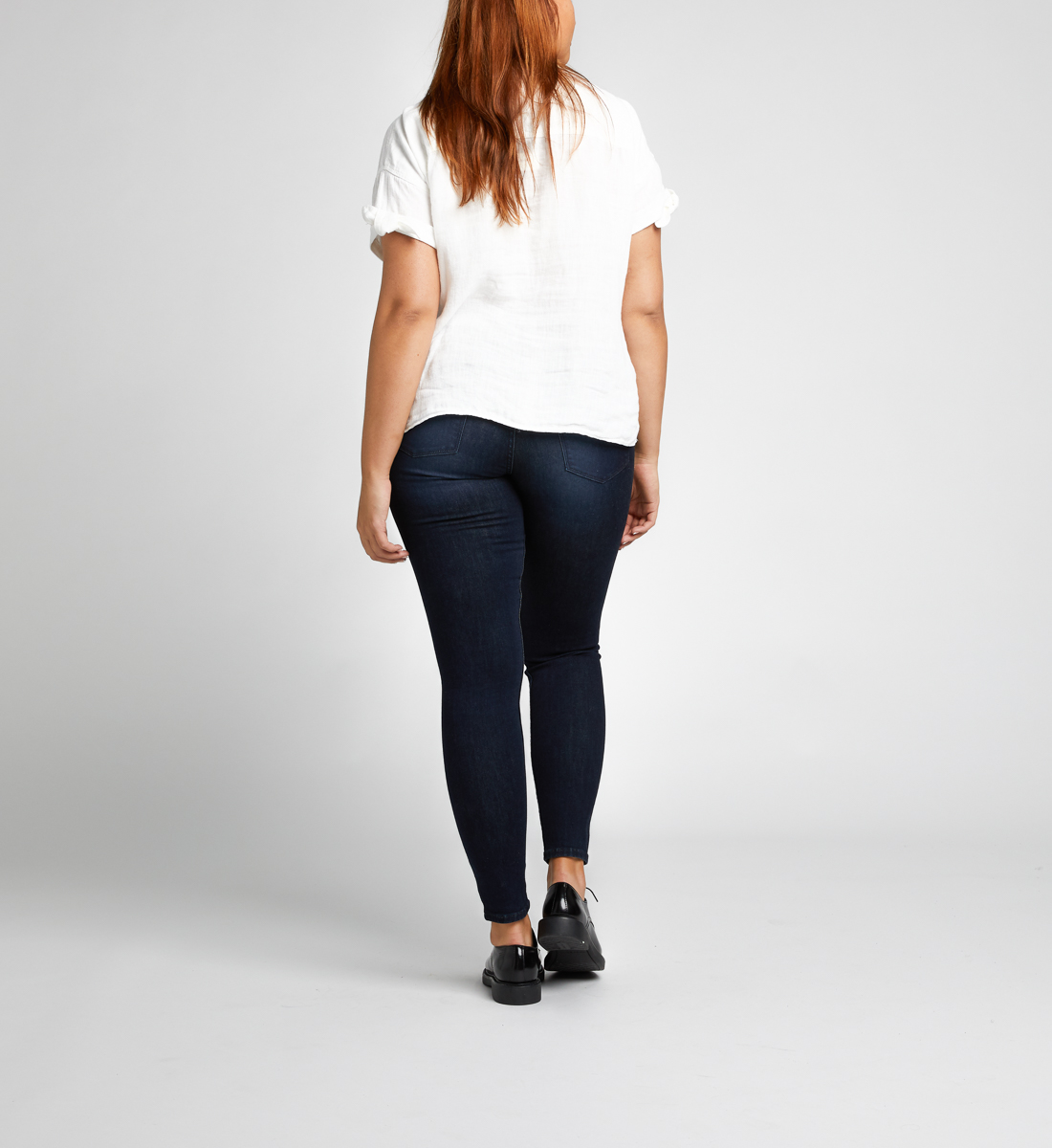 Mazy High Rise Skinny Leg Jeans Final Sale Back