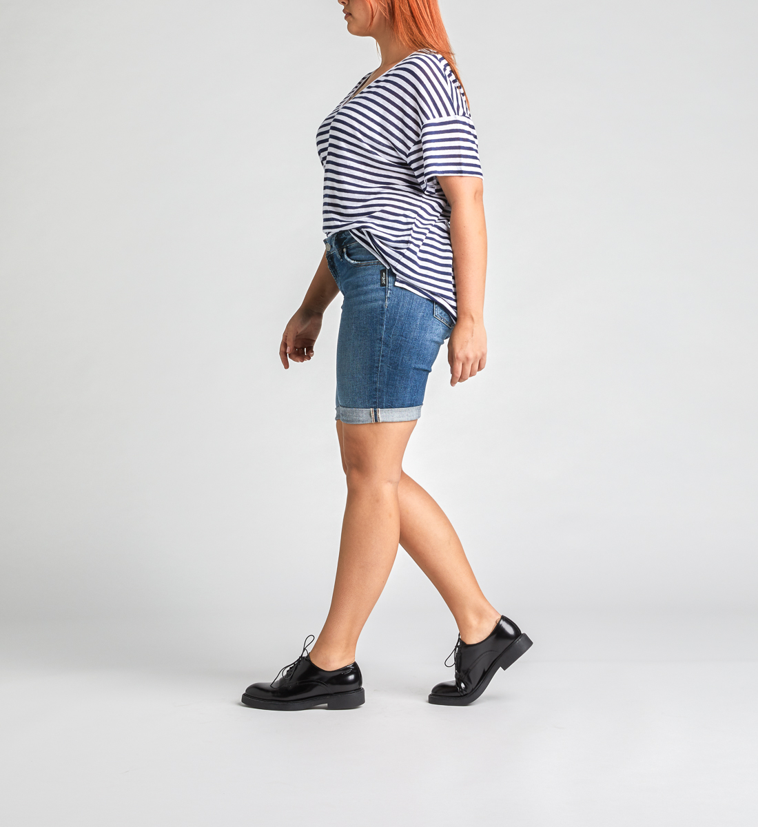 Elyse Mid Rise Bermuda Short Side