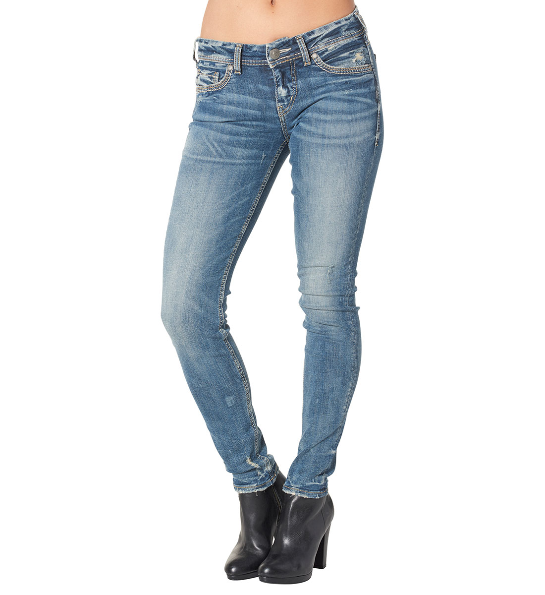 8b1c812d Aiko Mid Super Skinny Medium Wash - Silver Jeans US