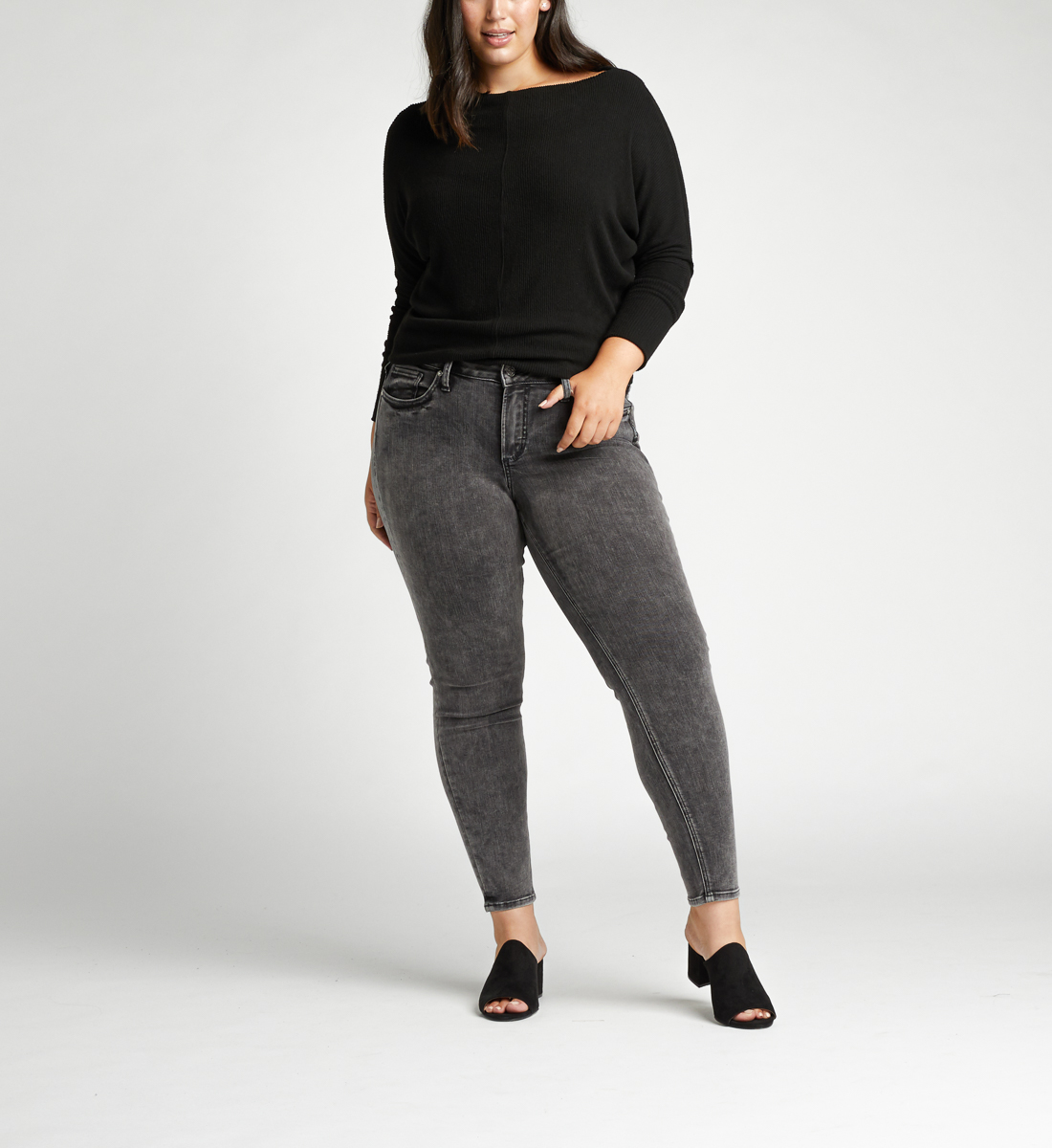 Suki Mid Rise Skinny Plus Size Jeans Front