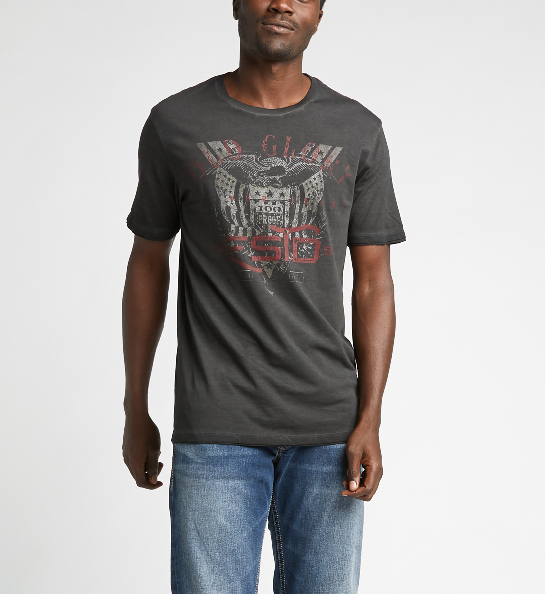 Donny Short-Sleeve Graphic Tee,Black Front