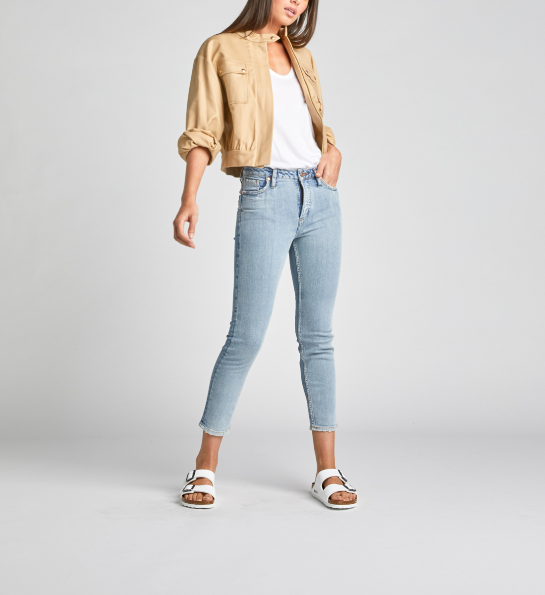 High Note High Rise Slim Crop Jeans Alt Image 1