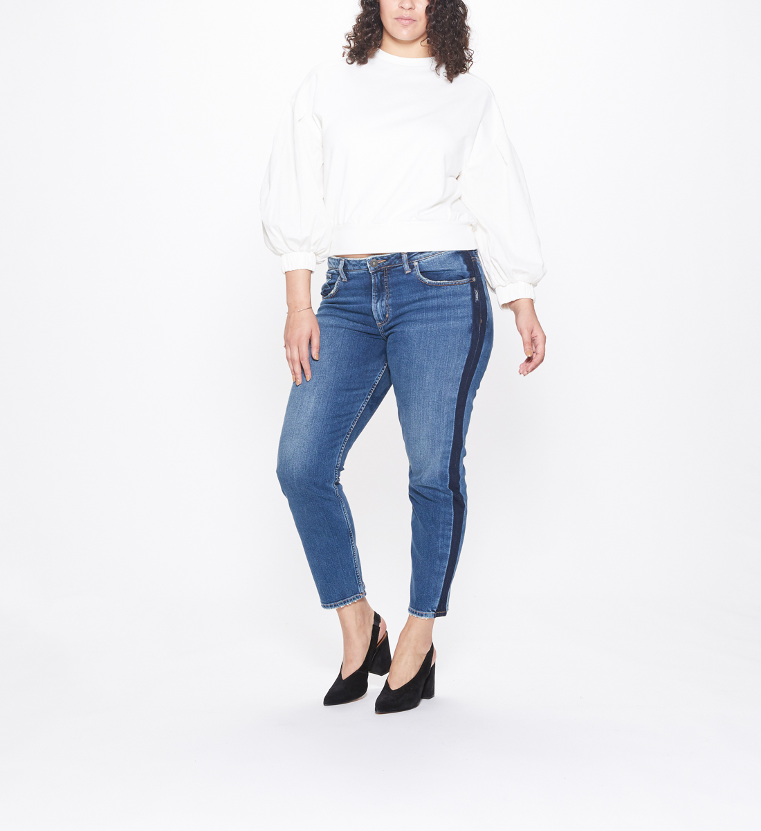 Vintage Plus Size Slim Leg Dark Wash, , hi-res