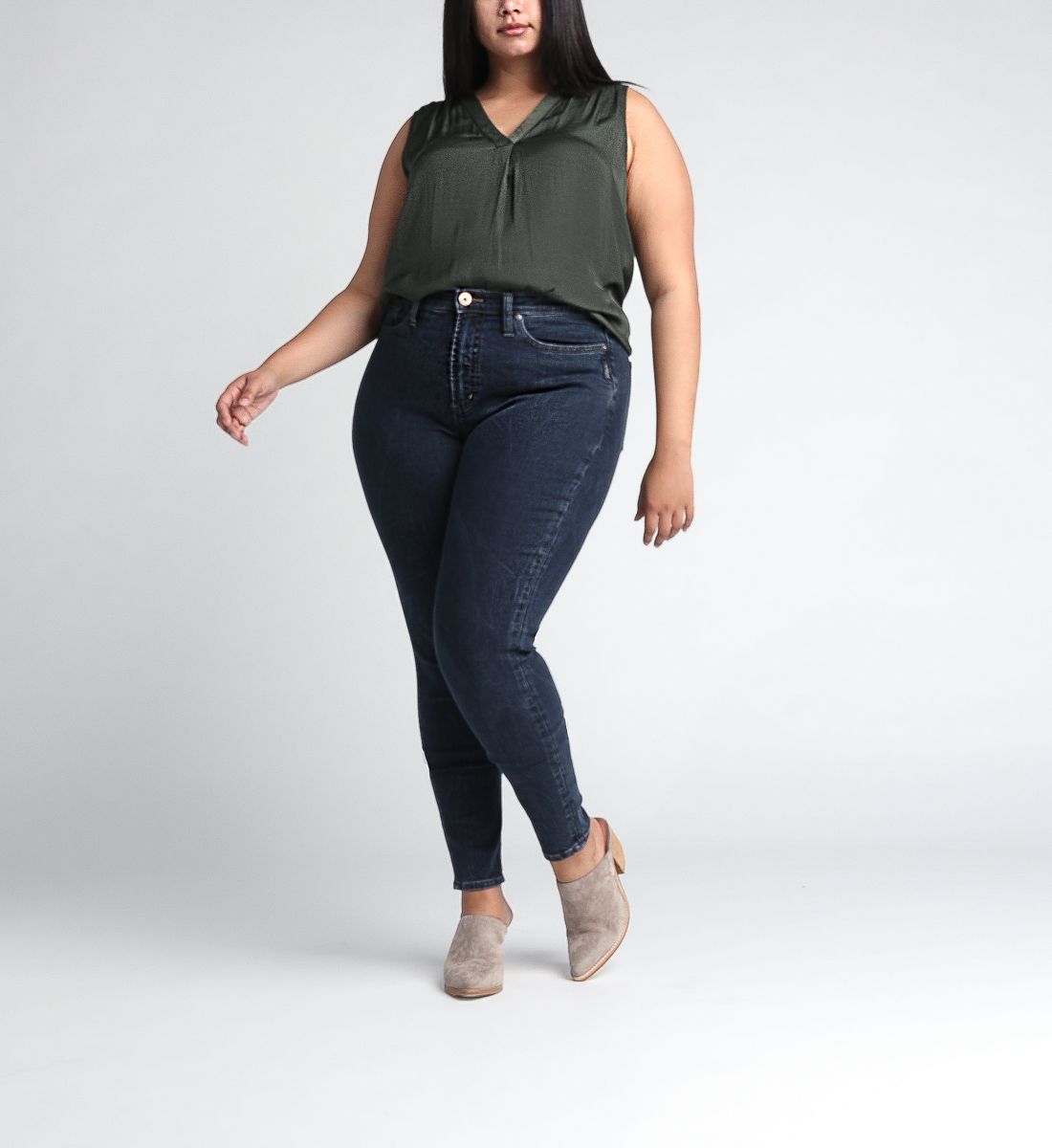 Calley Super High Rise Skinny Leg Jeans Plus Size Front