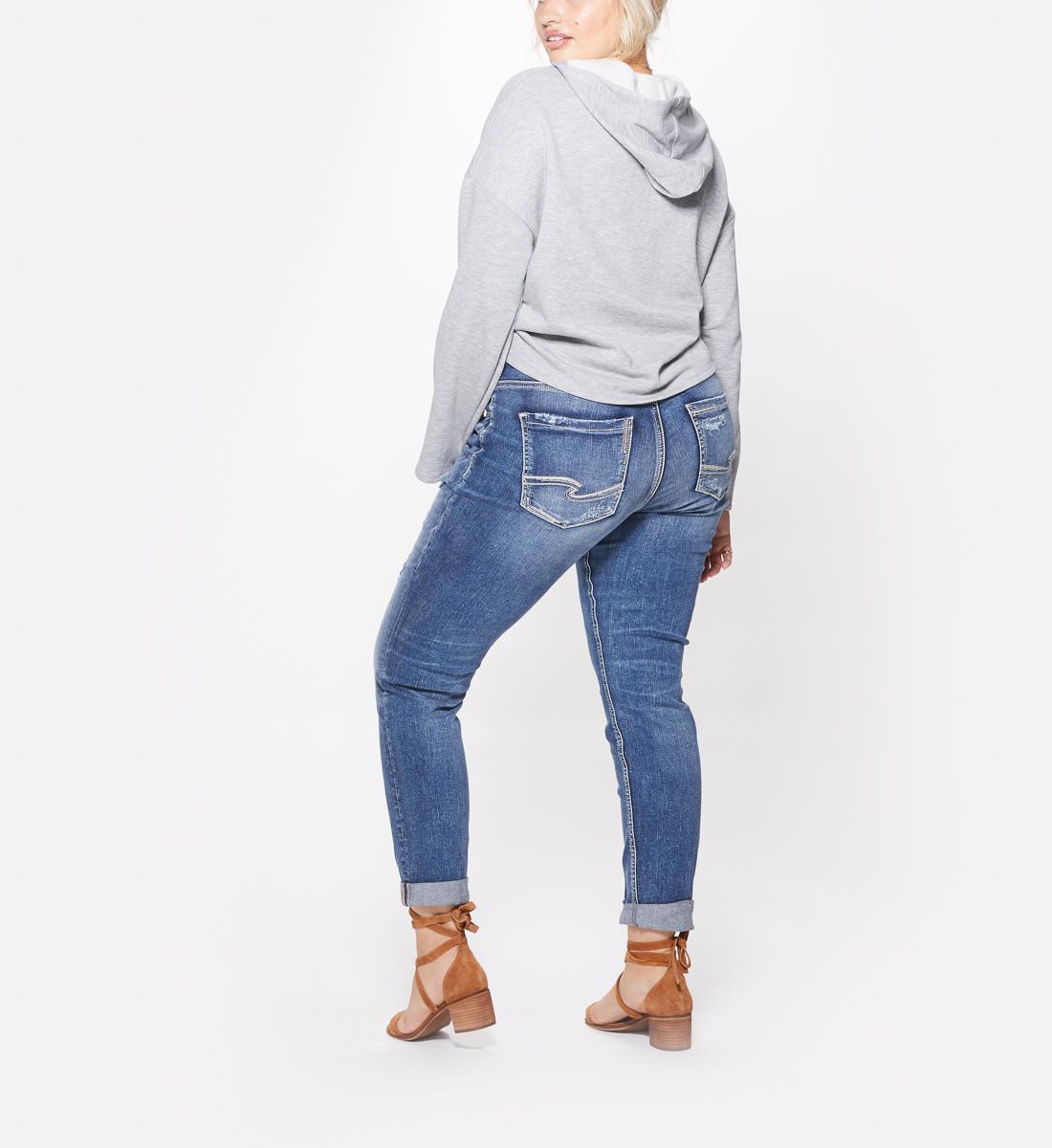 Sam Mid Rise Boyfriend Jeans Silver Jeans
