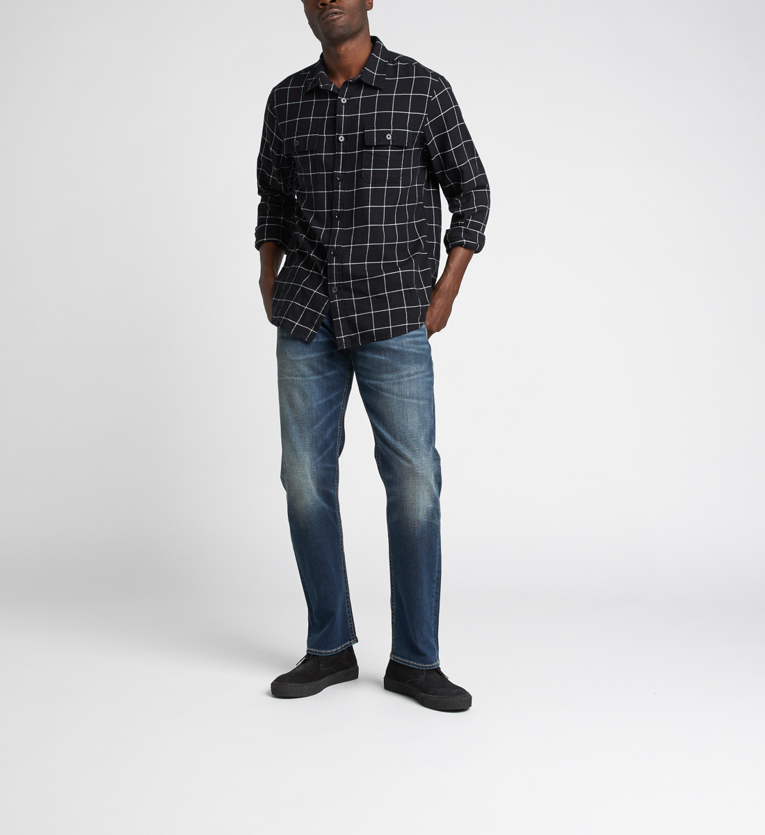 Eddie Relaxed Fit Tapered Leg Jeans,Indigo Alt Image 1