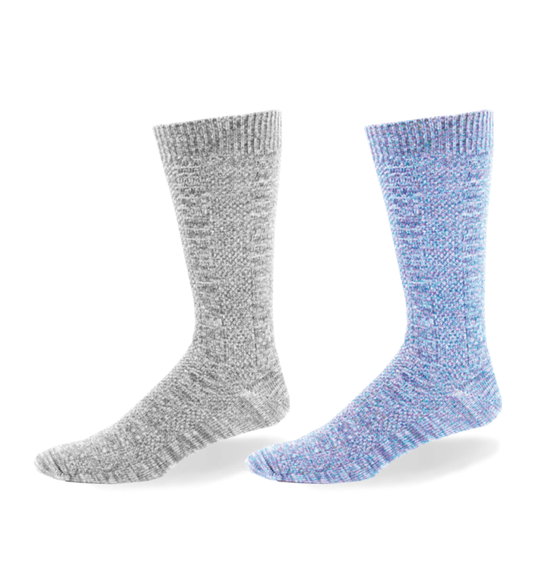 Link Patterned Over-The-Calf Socks, Light Grey, hi-res