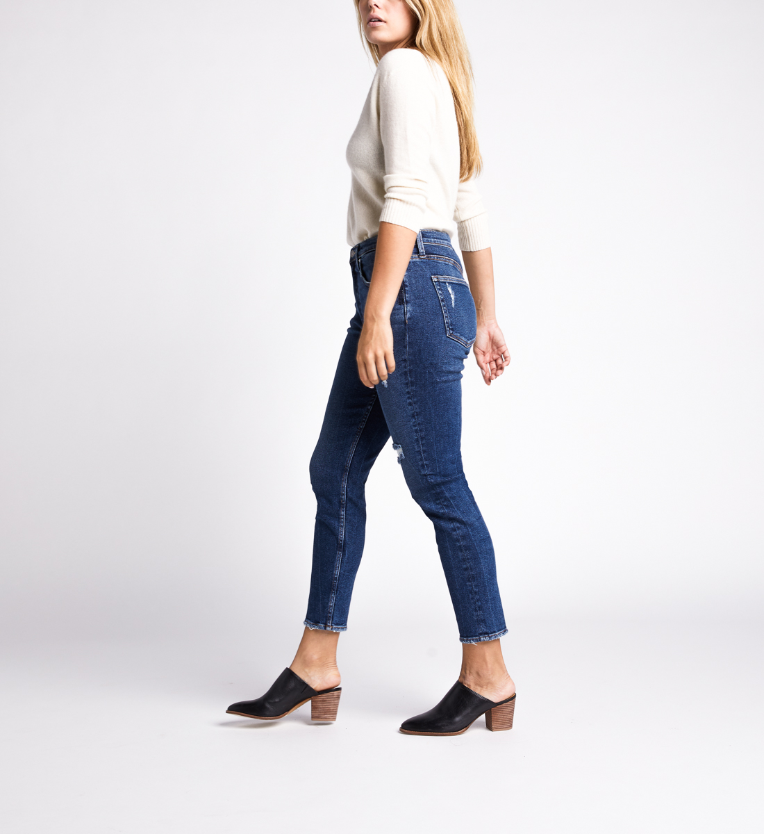 Frisco High Rise Skinny Leg Jeans,Indigo Side