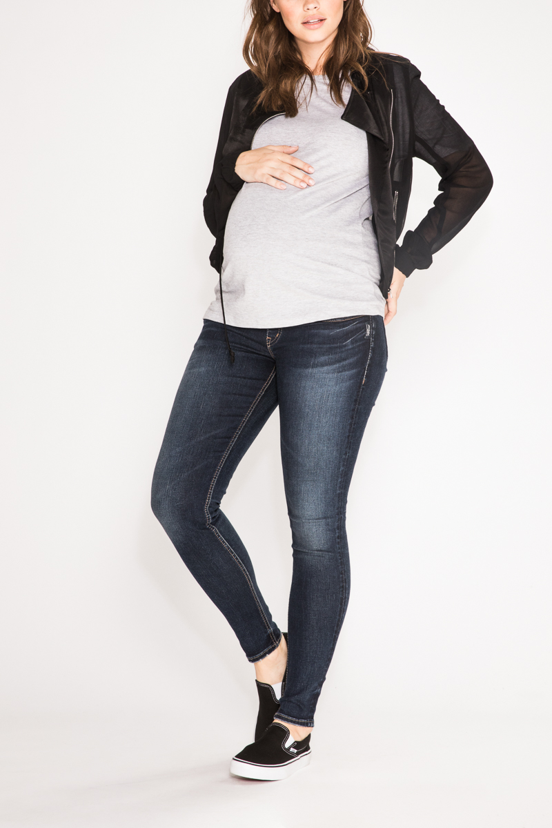 dda9af78f165c Suki Super Skinny Dark Wash Maternity Jean | Silver Jeans