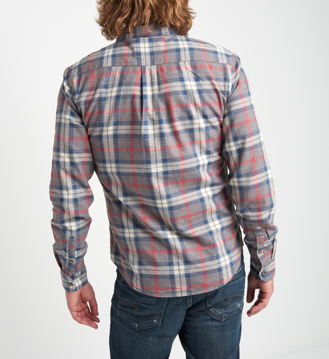Bronx Plaid Button-Down Shirt Back
