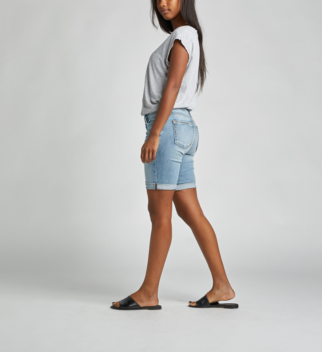 Suki Mid Rise Bermuda Short Side