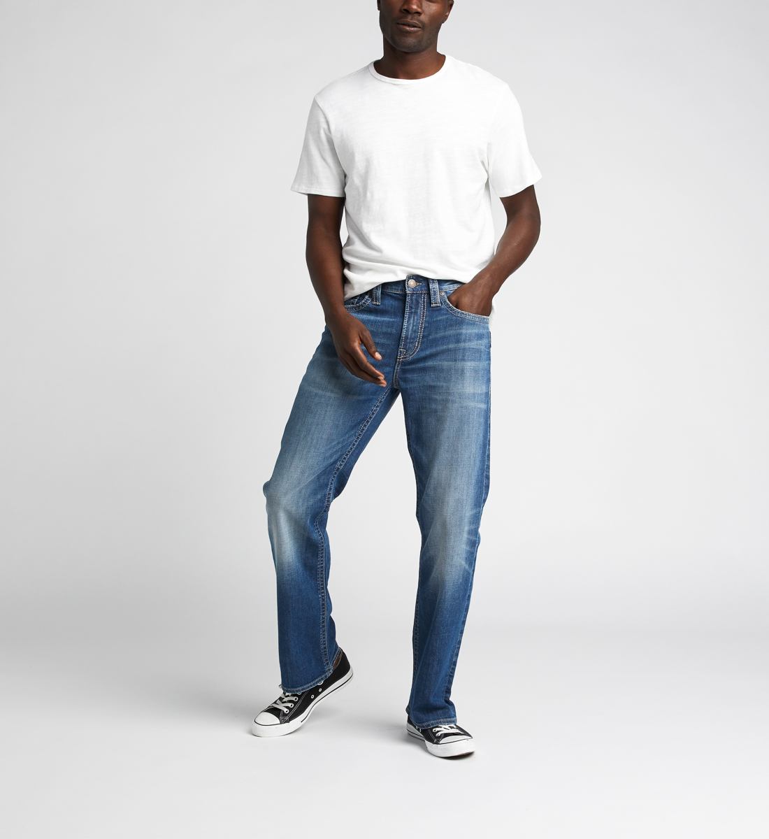 Craig Easy Fit Bootcut Jeans,Indigo Front