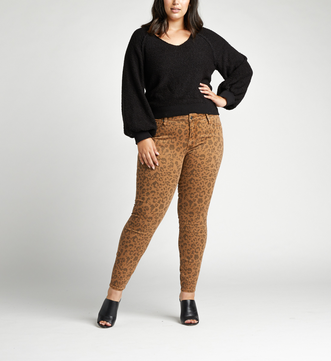 Most Wanted Mid Rise Skinny Plus Size Jeans,Tan Alt Image 1