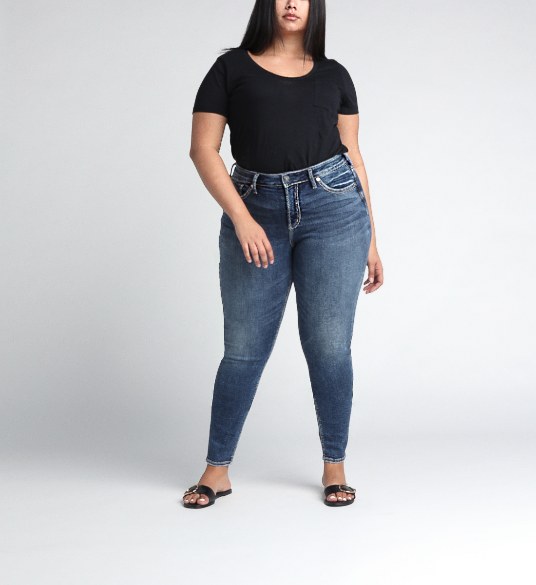 Avery High Rise Skinny Leg Jeans Plus Size Front