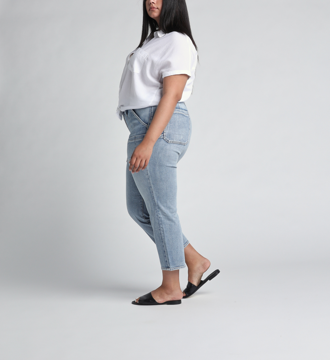 In The Loop Mid Rise Ankle Slim Leg Jeans Plus Size Side