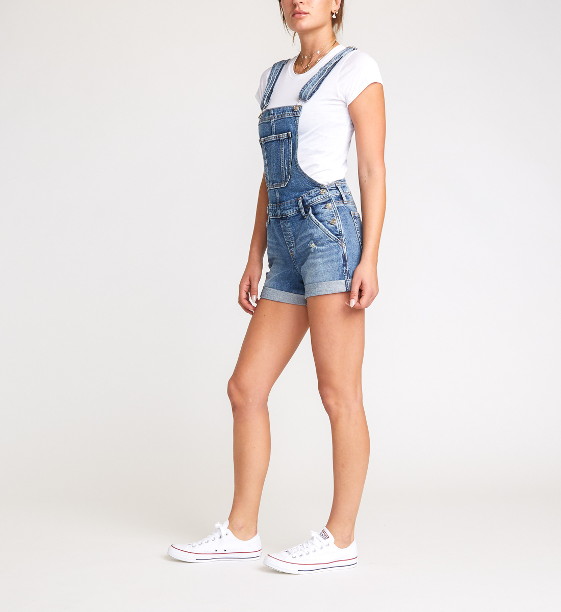 Silver Jeans Co Womens Shortall Jeans