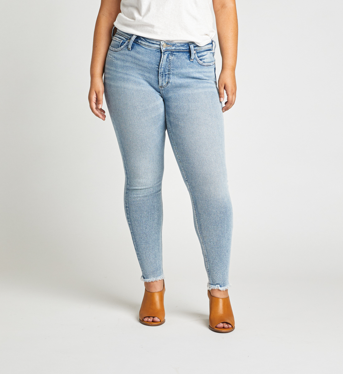 Most Wanted Mid Rise Skinny Jeans Plus Size Front