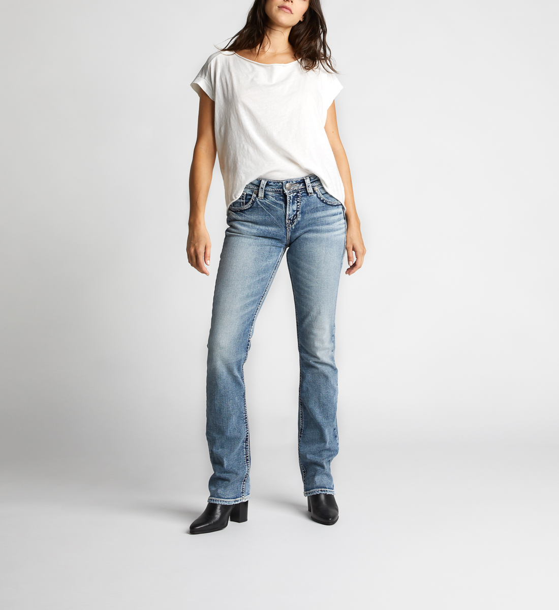 0f173f90 Suki High Baby Boot Light Wash | Silver Jeans