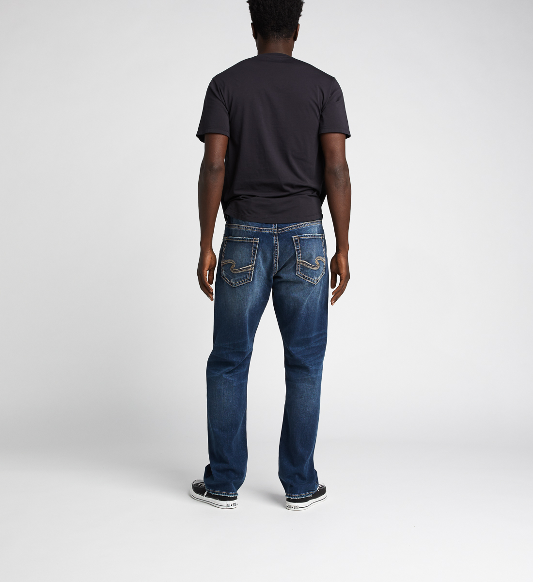 Grayson Easy Fit Straight Jeans, Indigo, hi-res