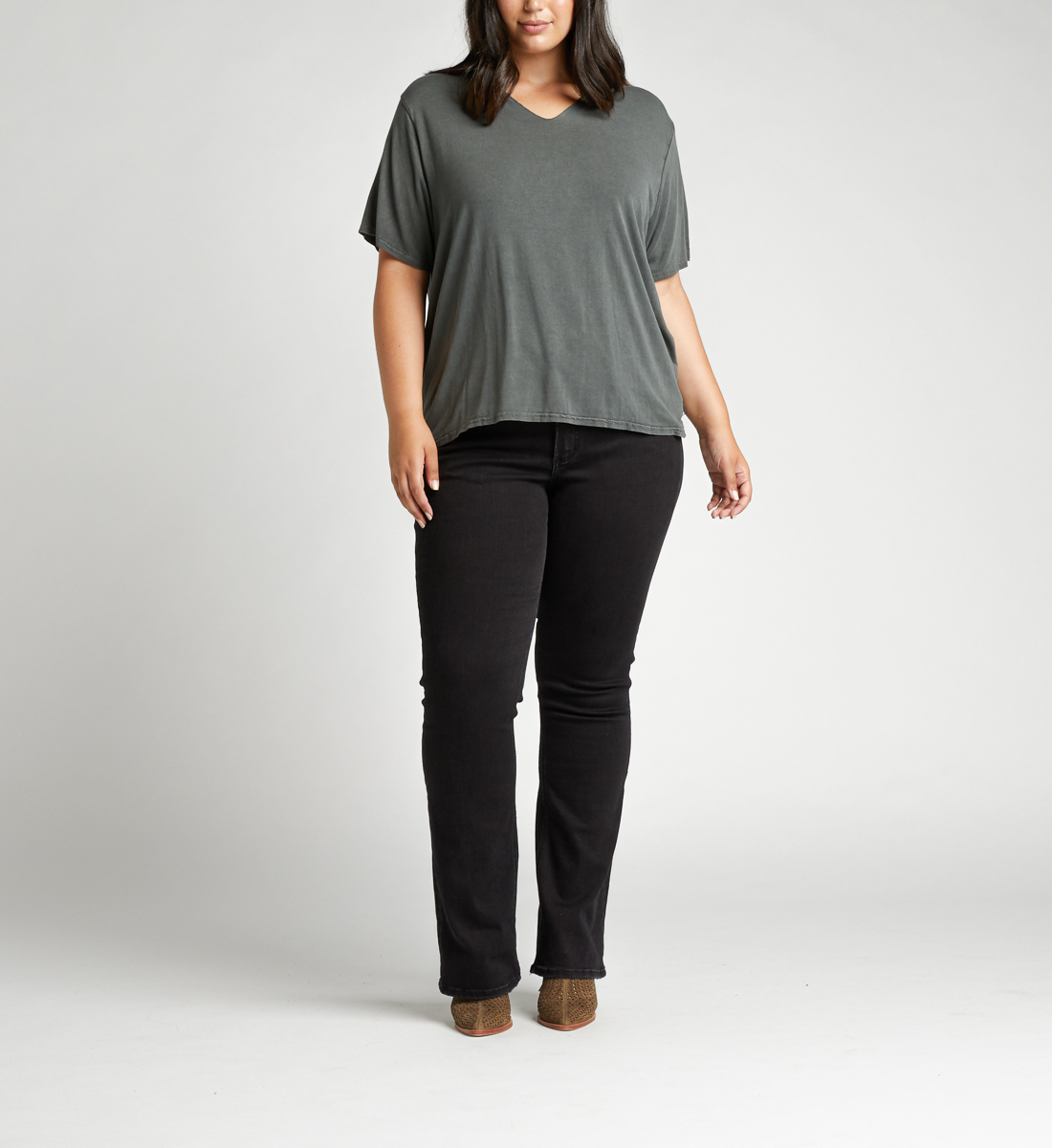 Arizona Top Plus Size,Black Back