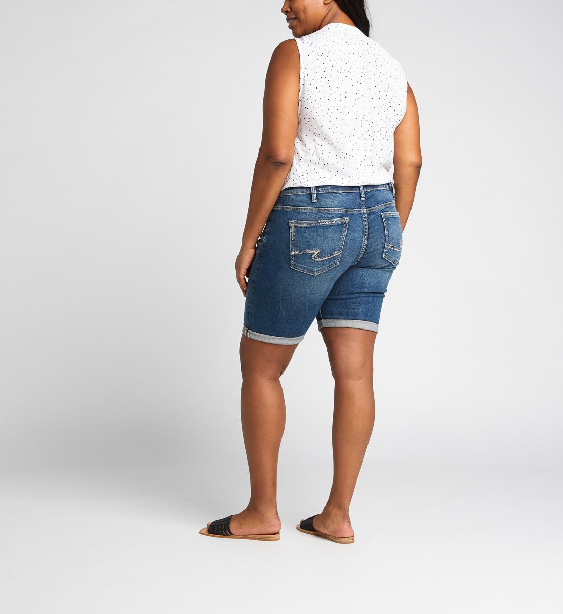 fa8f8d1d95 Elyse Mid Rise Bermuda Short Plus Size - Silver Jeans US