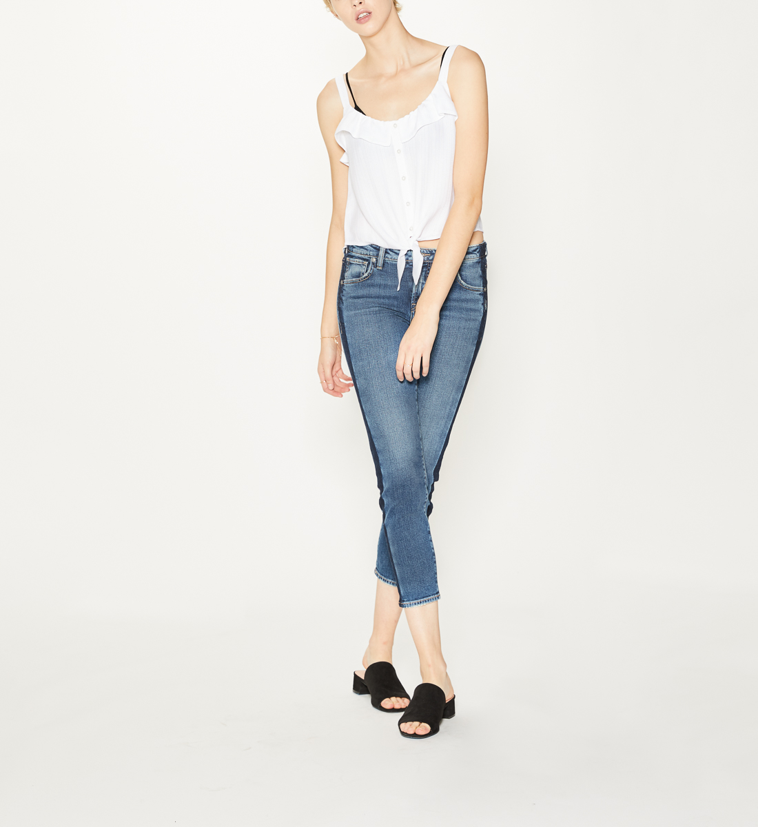 Vintage Slim Ankle Dark Wash, , hi-res
