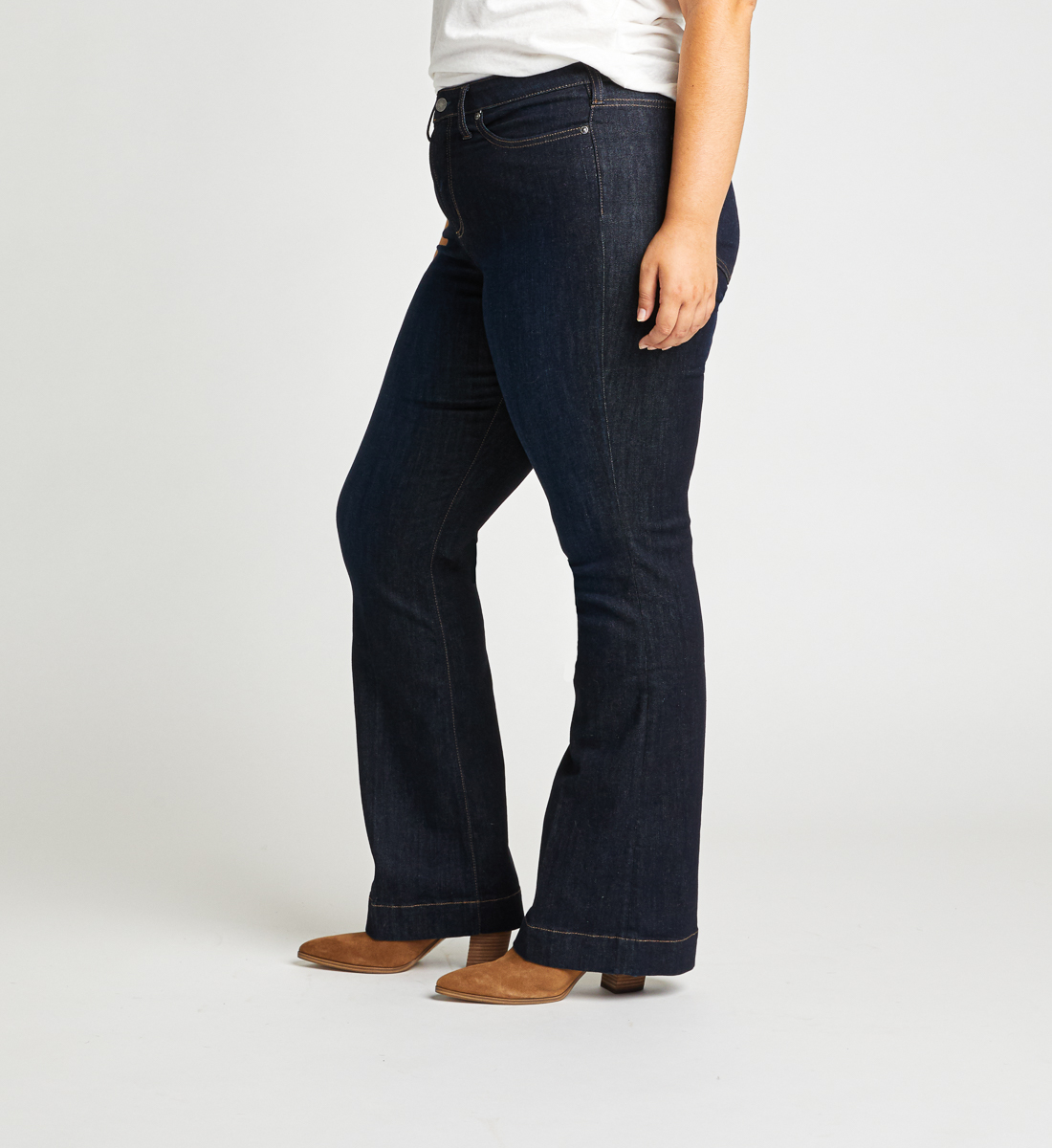 High Note High Rise Trouser Plus Size Jeans Side