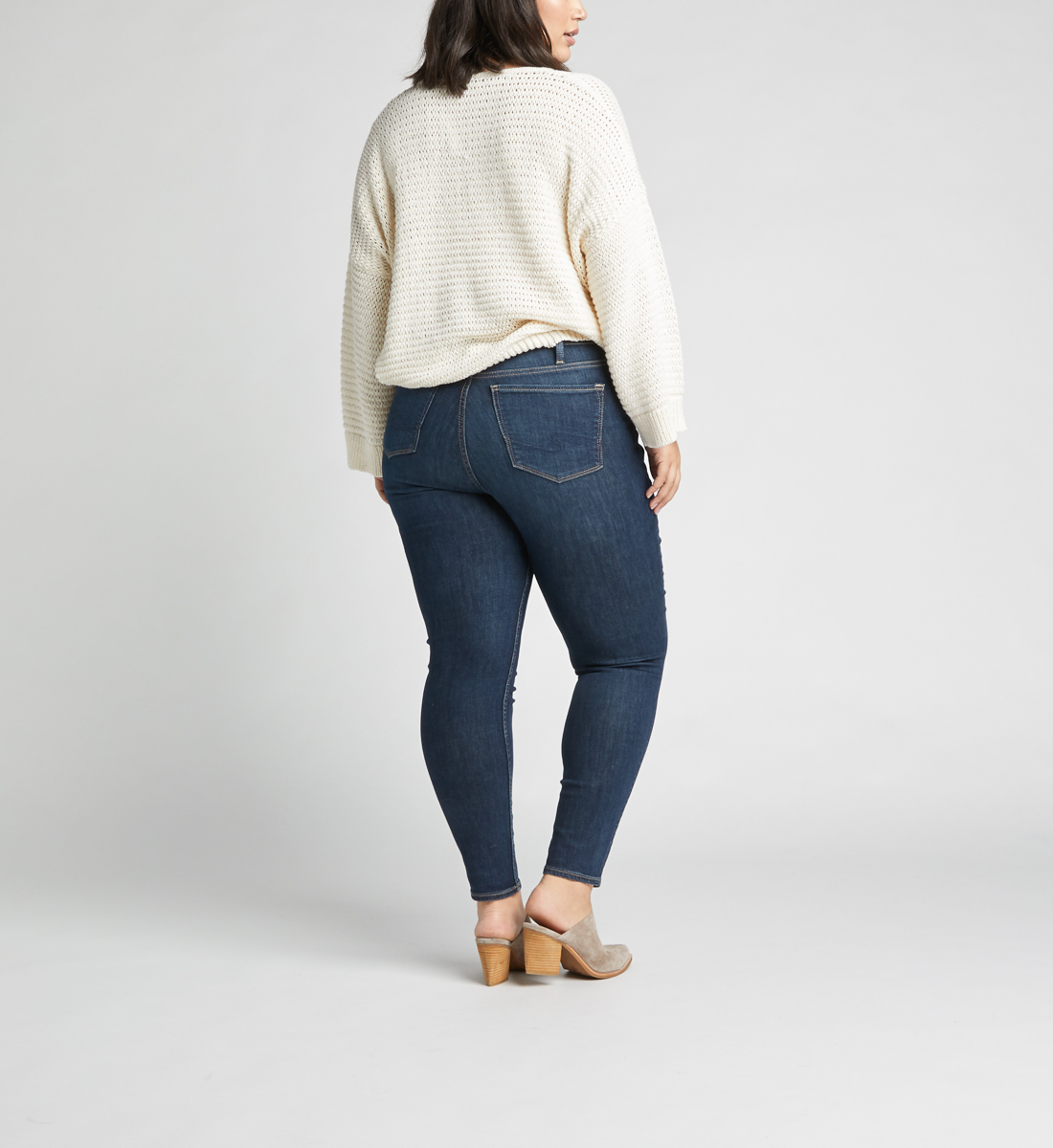 Calley High Rise Skinny Leg Jeans Plus Size,Indigo Back