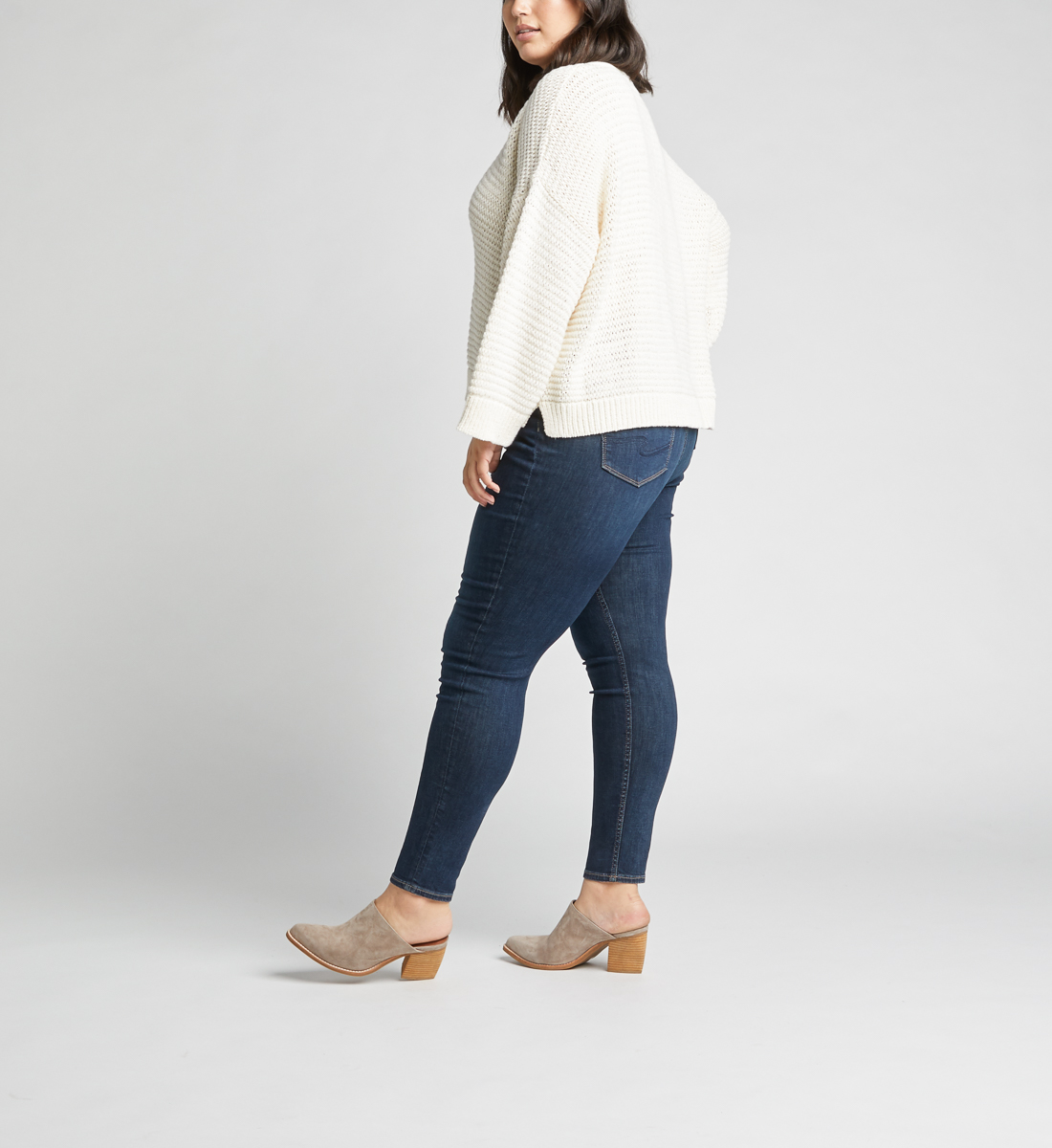 Calley High Rise Skinny Leg Jeans Plus Size,Indigo Side