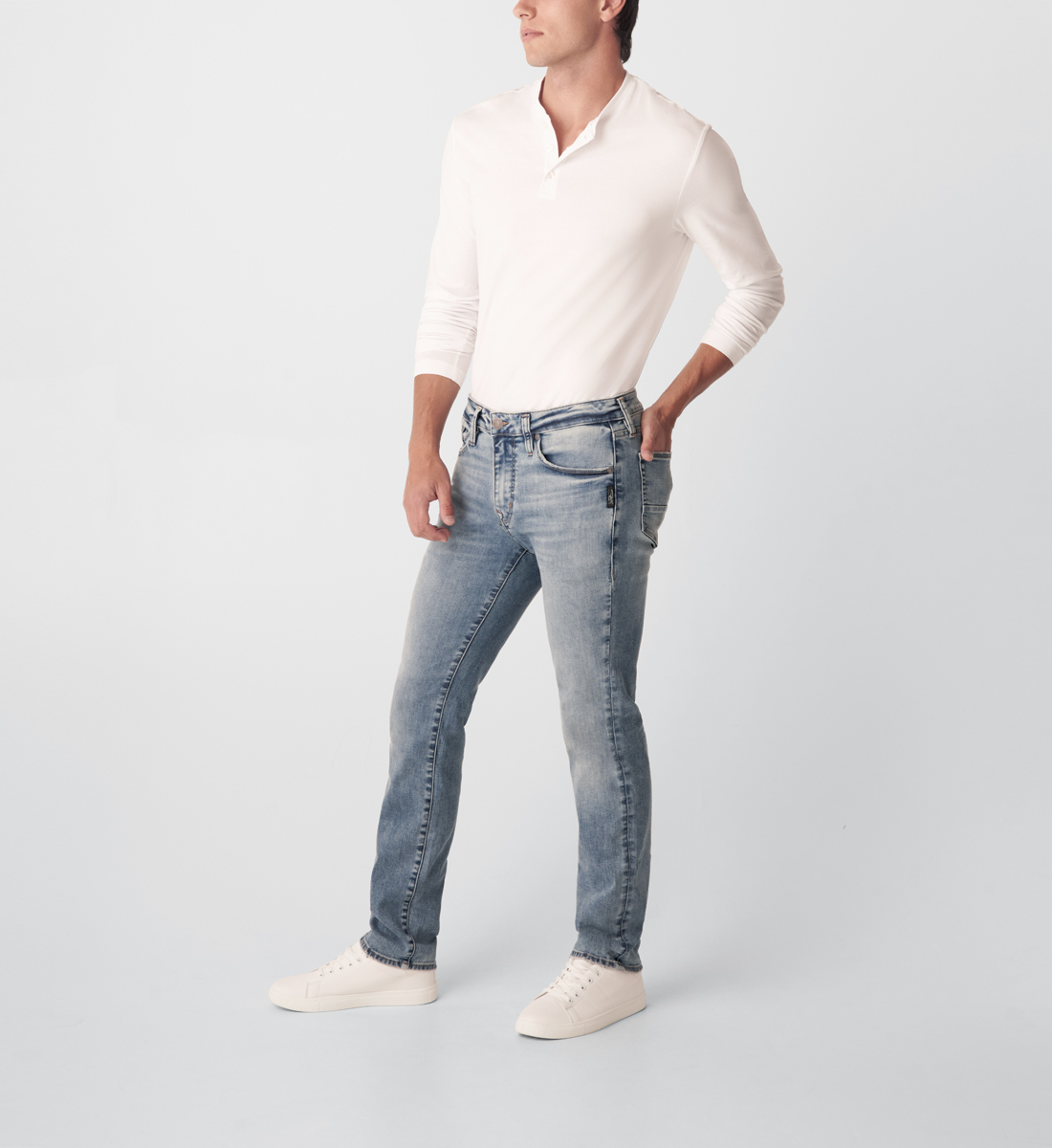 Kenaston Slim Fit Slim Leg Jeans Side