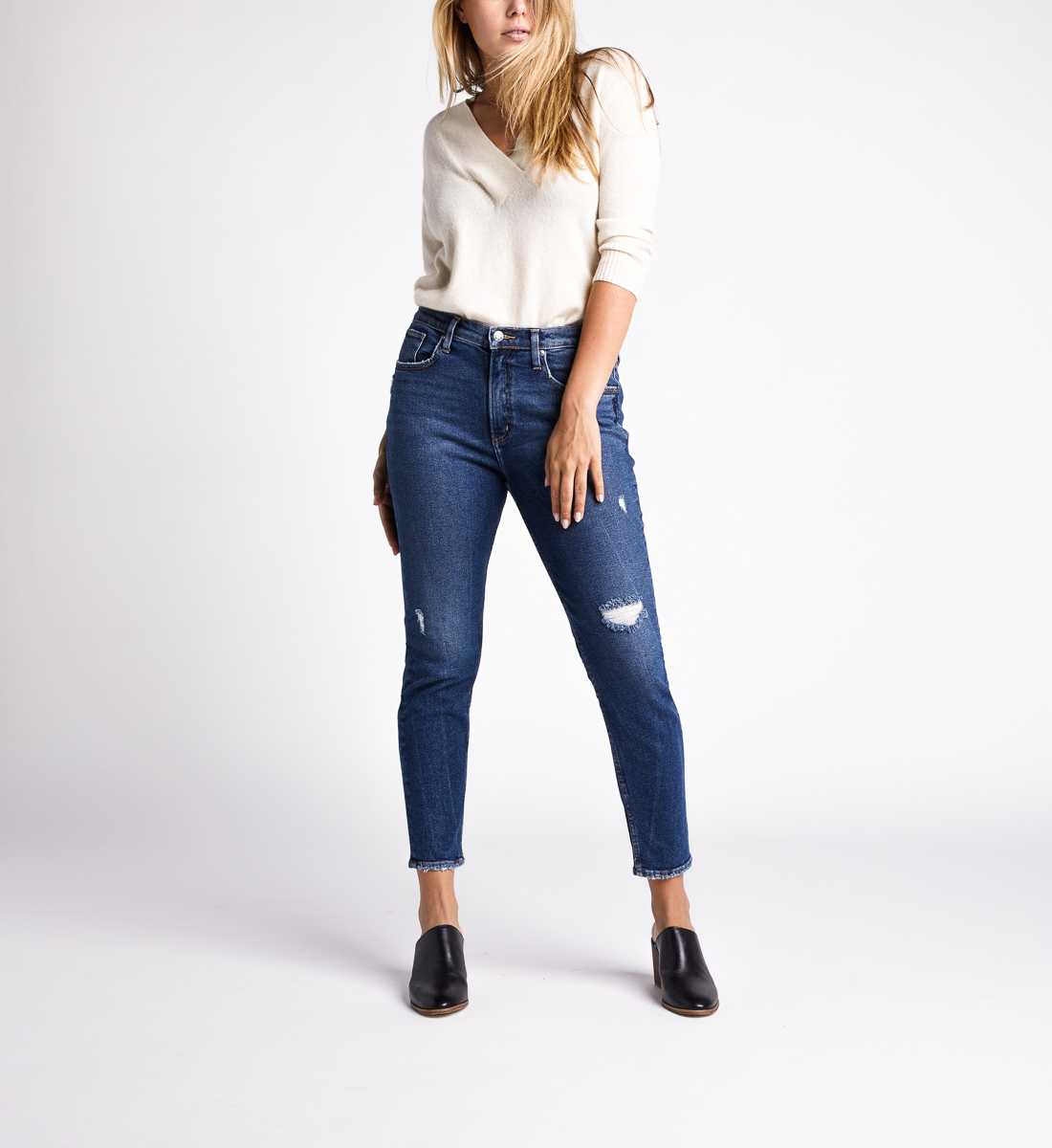 Frisco High Rise Skinny Leg Jeans,Indigo Front