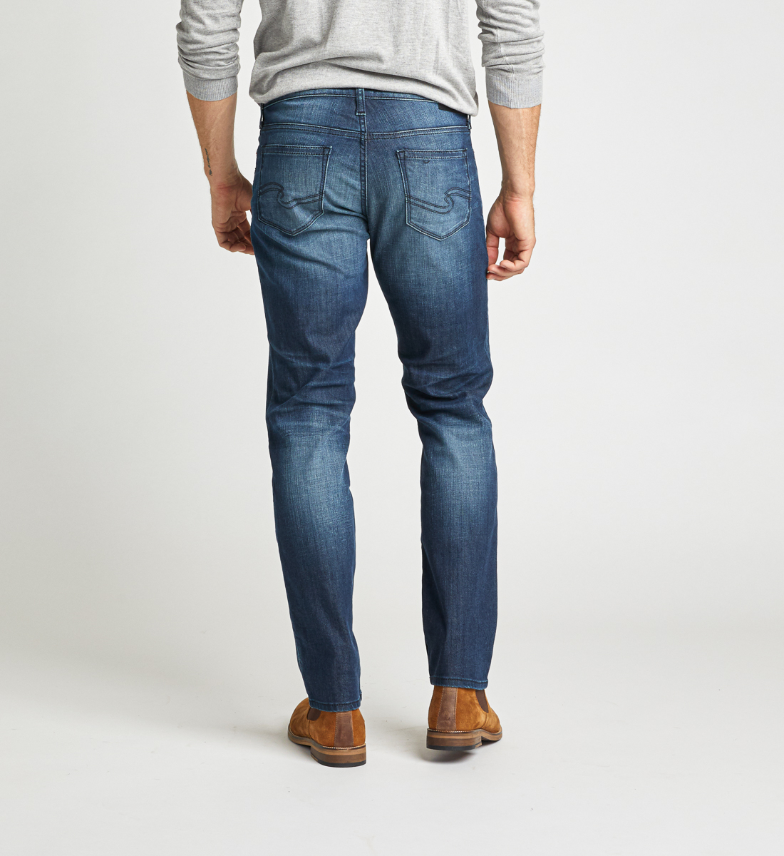 Konrad Slim Fit Slim Leg Jeans Back