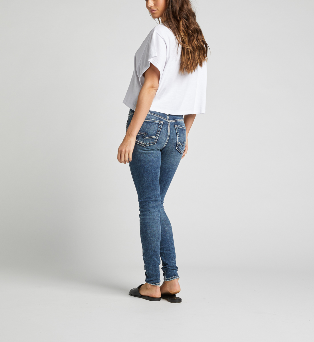Avery High Rise Skinny Leg Jeans Back