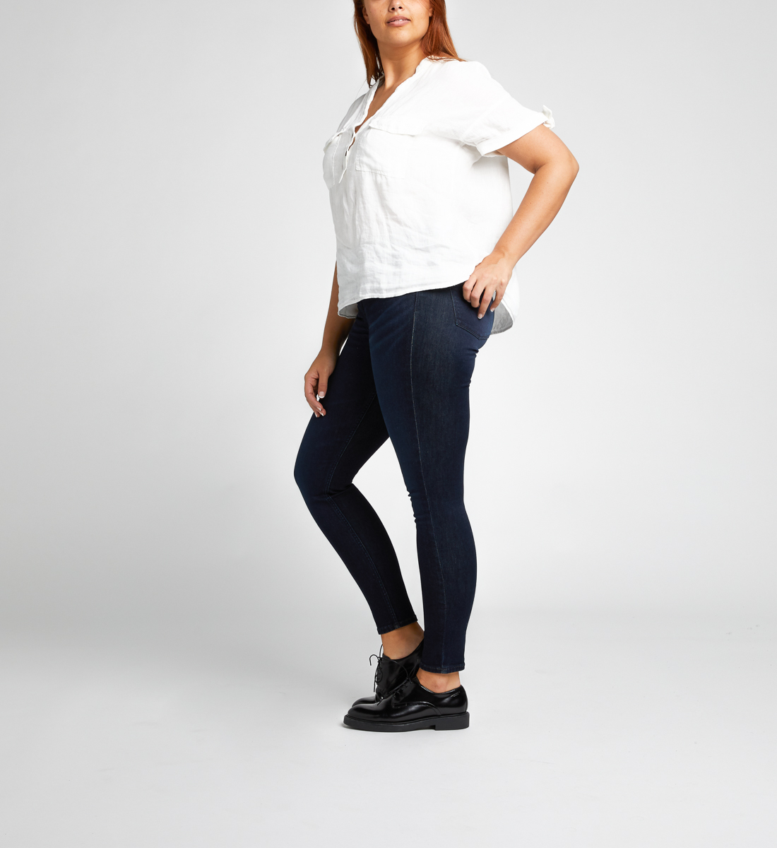 Mazy High Rise Skinny Leg Jeans Final Sale Side